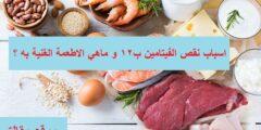فيتامين ب12…اعراض نقصه في الجسم و ماهي الاطعمة الغنية به ؟