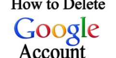 كيفية حذف حساب جوجل