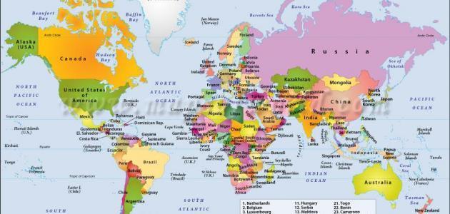عواصم البلاد المختلفة